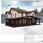 проект дома из блоков 272 м2