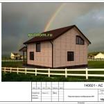 проект дома из сип панелей 151 м2