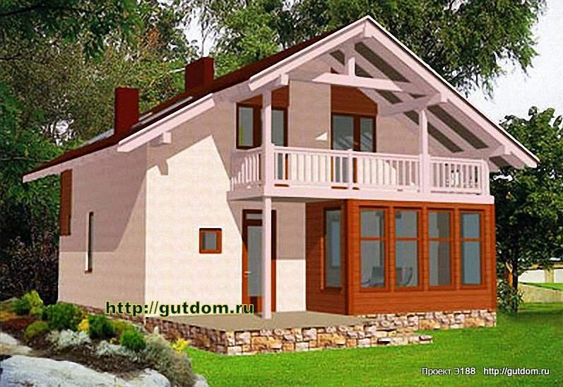 Проект э188 двухэтажный каркасный дом общая площадь 147,4 м2.