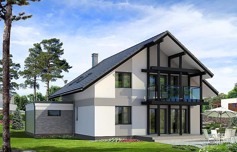 Мансард дизайн фасадов