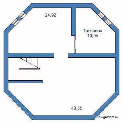 План цокольного этажа дома эскизный