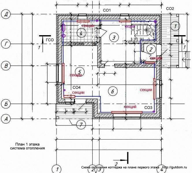 Отопление коттеджа 2 этажа