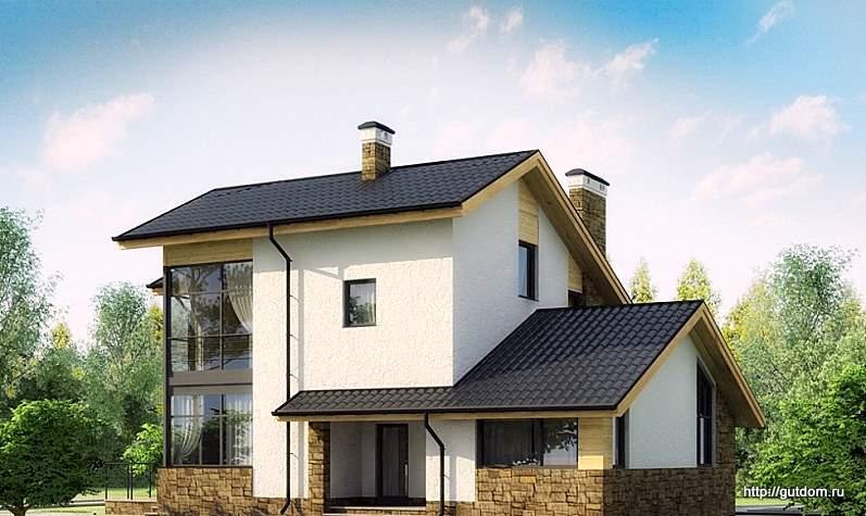 Проект сип 73 дом двухэтажный 174,2 м2 из sip панелей качест.