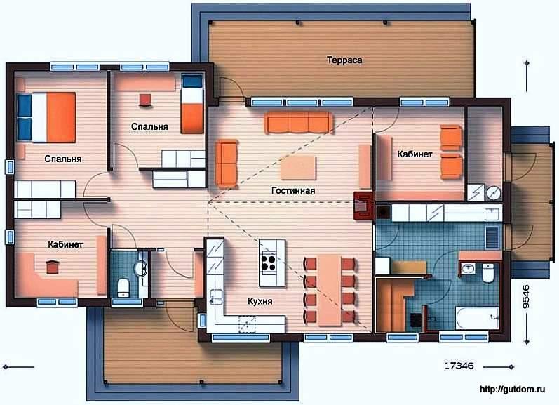 Одноэтажного дома сип 72 из sip панелей