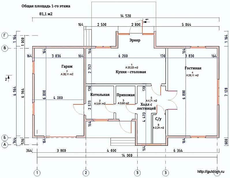 Проекты домов чертежи с размерами