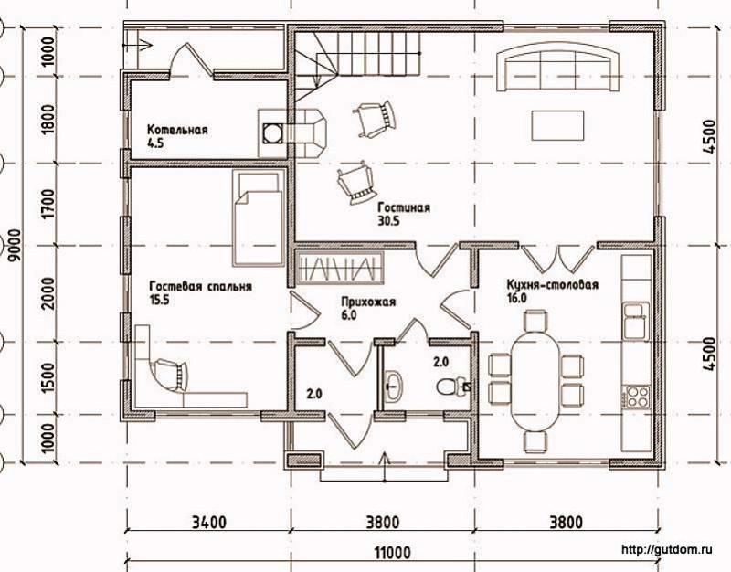 Проекты домов из сип панелей бесплатно чертежи 196