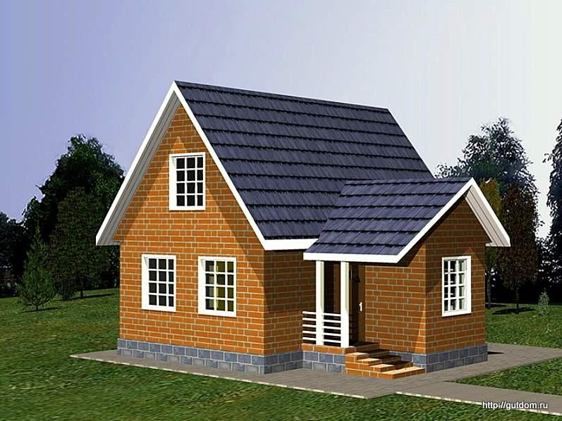 Проект дома с мансардой сип 45 площадью