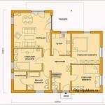 План одноэтажного дома проект гб59