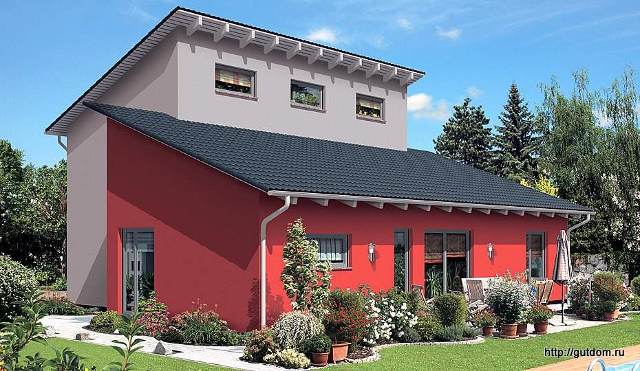Постоянная ссылка на Проект ГБ39 двухэтажного дома из газоблоков площадью 109,3 м2, эскиз