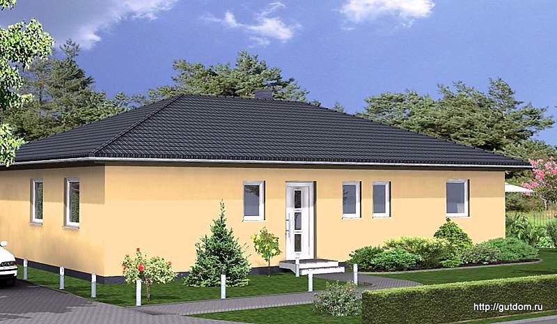 Проект одноэтажного дома из