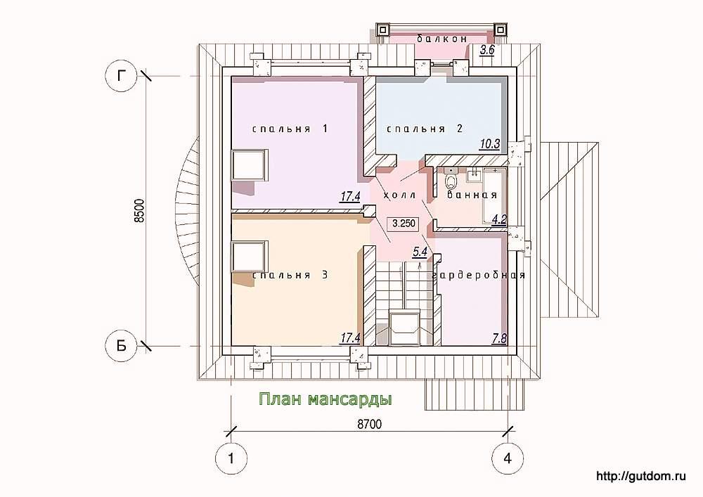 планировка одноэтажного дома 6х9