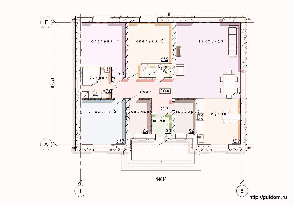 Как сделать проект одноэтажного дома самому