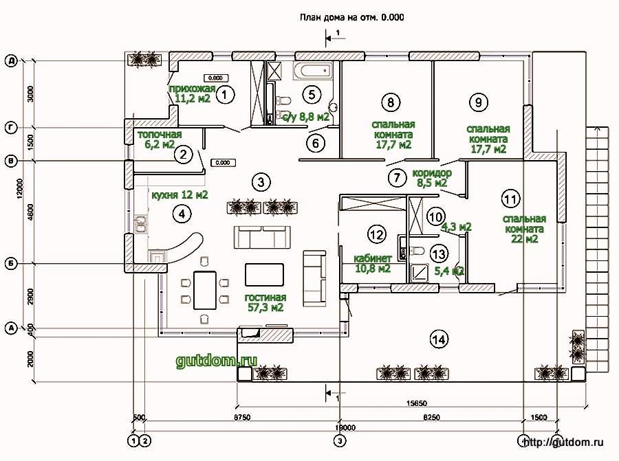 Проект одноэтажного дома 10х10 скачать бесплатно