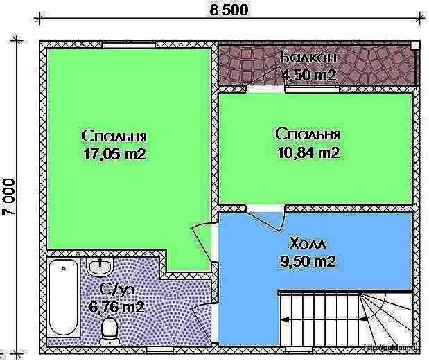 Проект Э104 Дом Коттедж Дача Общая площадь 105,82 м2