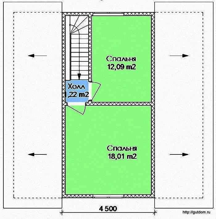 Проект Э108 Дом Коттедж Общая площадь 107,49 м2