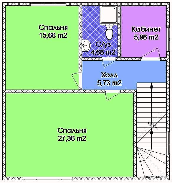 Проект Э116 Дом Коттедж Дача Общая площадь 134,21 м2
