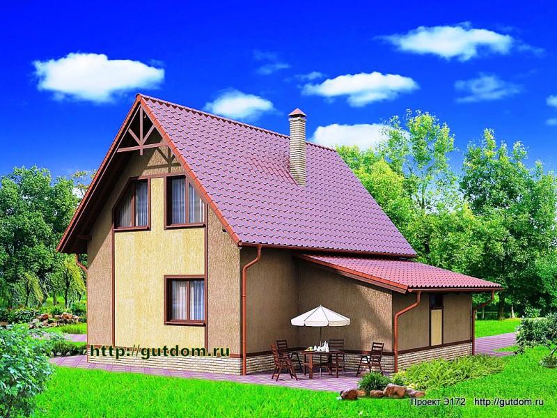 Проект Э172 дом каркасный двухэтажный Общая площадь 100,1 м2