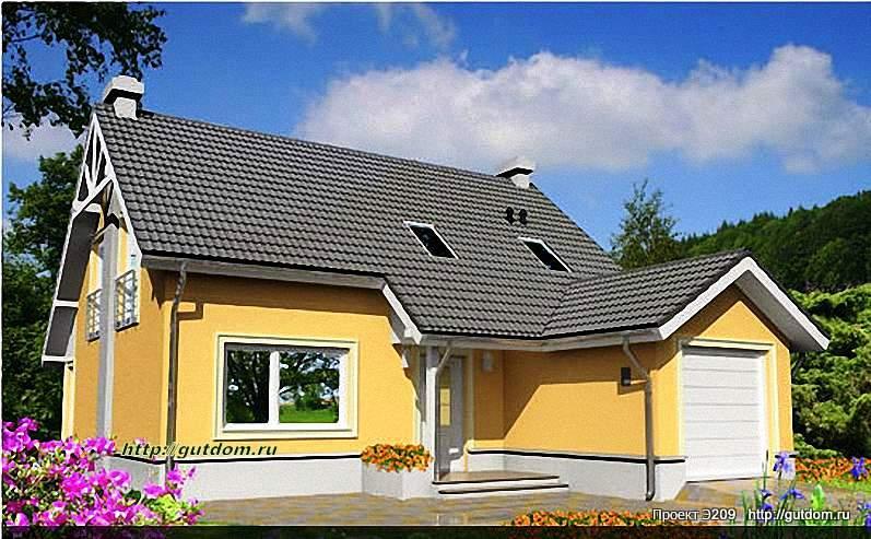 Проект Э209 дом - коттедж с мансардой Общая площадь 138,7 м2