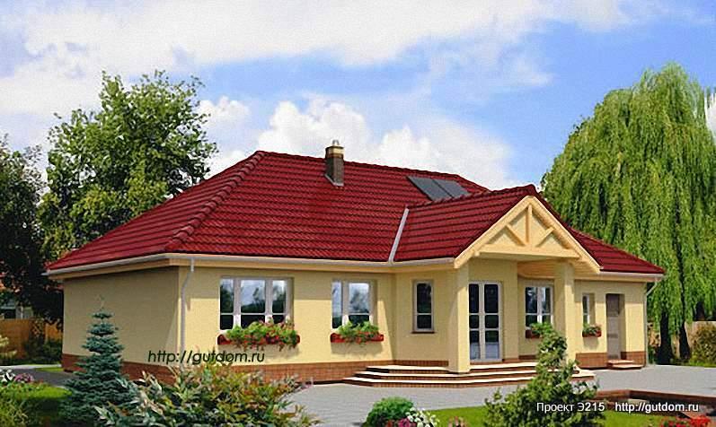 Проект Э215 одноэтажный дом - коттедж Общая площадь 132,8 м2