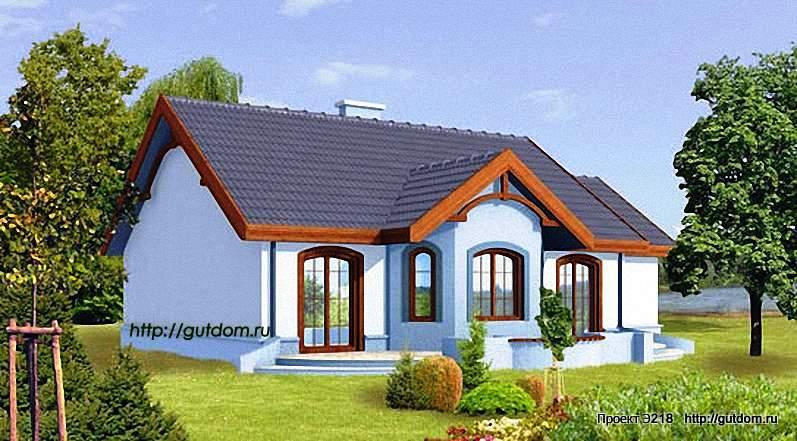 Проект Э218 одноэтажный дом - коттедж Общая площадь 99 м2