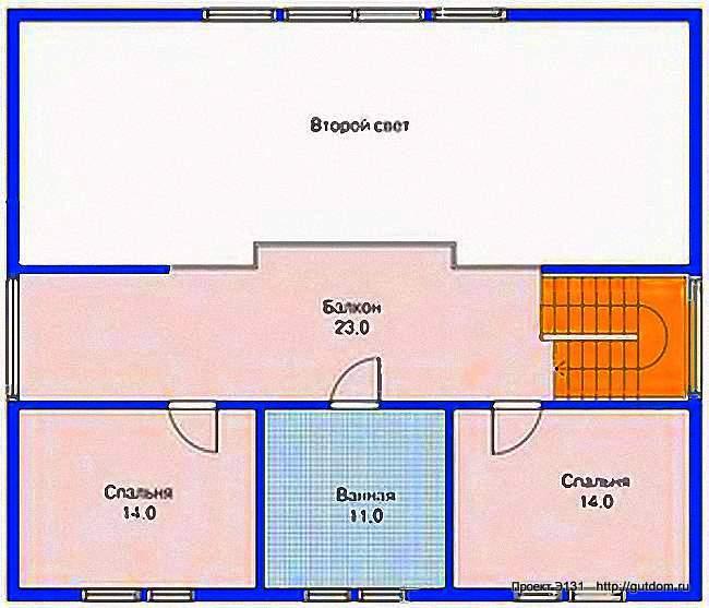 Проект Э131 - дом, коттедж с мансардой Общая площадь 179 м2
