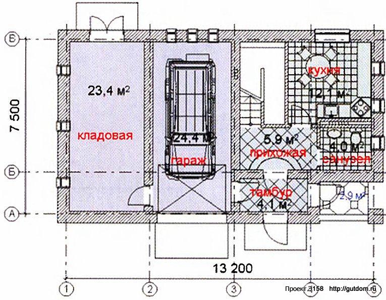 Проект Э158 дом коттедж с мансардой Общая площадь 120 м2