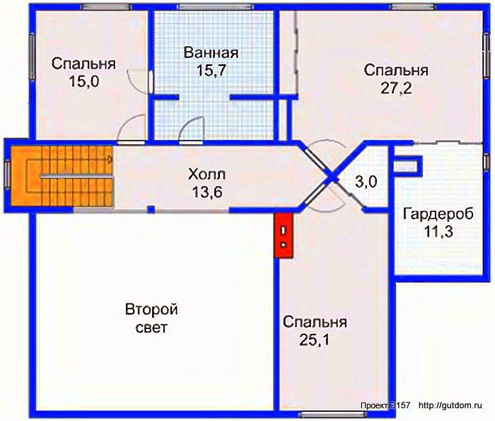 Проект Э157 дом коттедж с мансардой Общая площадь 278,6 м2