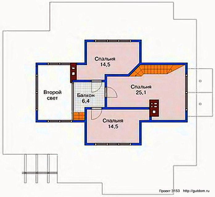Проект Э153 дом коттедж с мансардой Общая площадь 217,7 м2