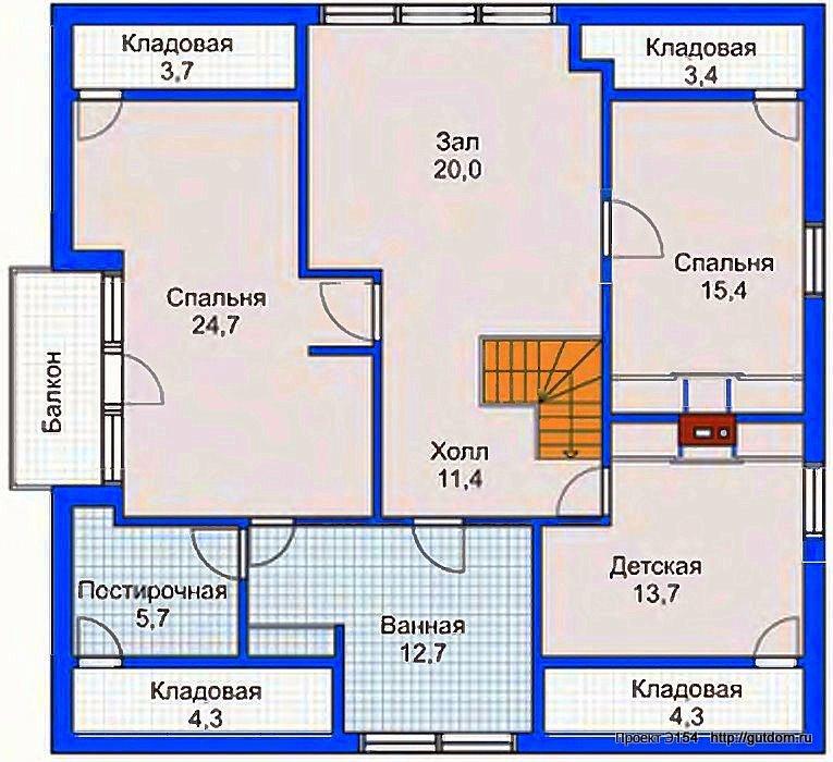 Проект Э154 дом коттедж с мансардой Общая площадь 229,8 м2