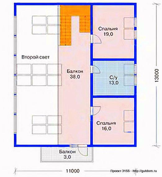 Проект Э155 дом коттедж с мансардой Общая площадь 247 м2
