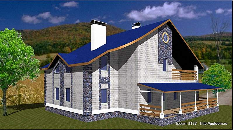 Проект Э127 - двухэтажный Дом Коттедж Общая площадь 212 м2