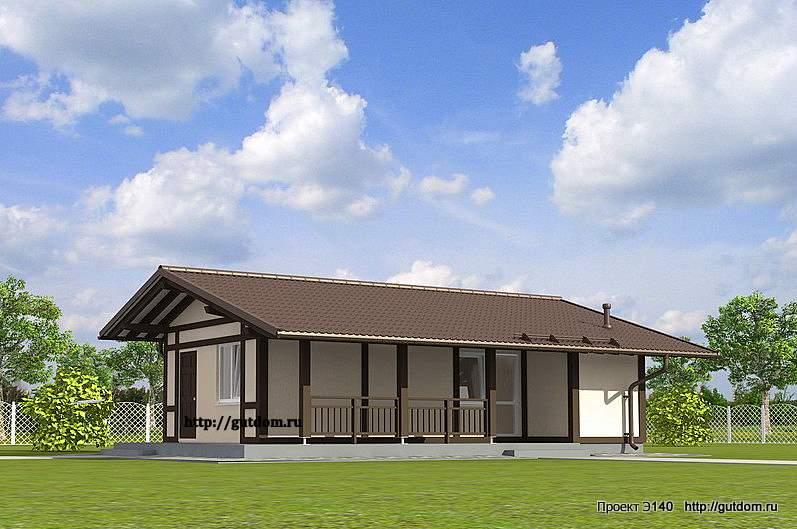 Проект Э140 дом, коттедж одноэтажный Общая площадь 33,7 м2