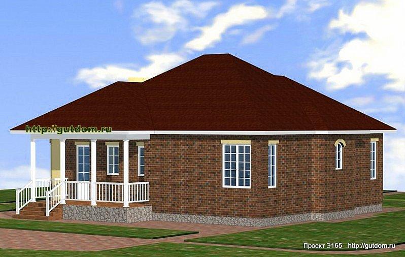 Проект Э165 дом коттедж одноэтажный Общая площадь 109 м2