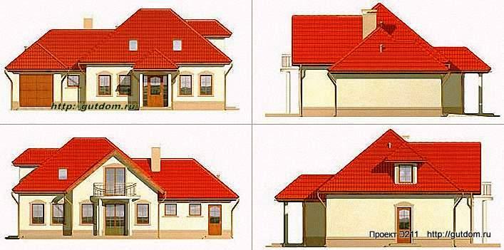 Проект Э211 дом - коттедж с мансардой Общая площадь 147 м2
