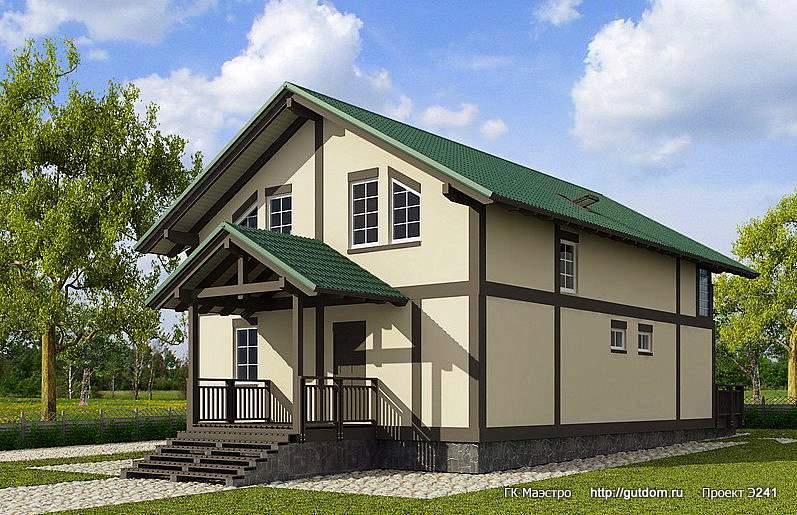 Проект Э241 дом с мансардой Общая площадь 187,1 м2