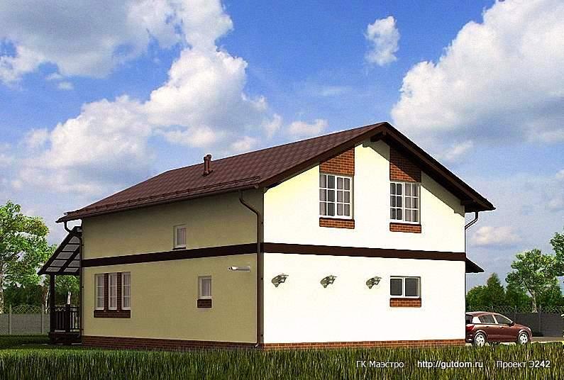 Проект Э242 дом с мансардой Общая площадь 194,0 м2