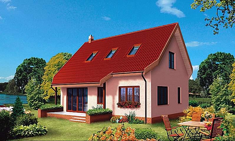 Проект Э263 дом с мансардой Общая площадь 103,1 м2