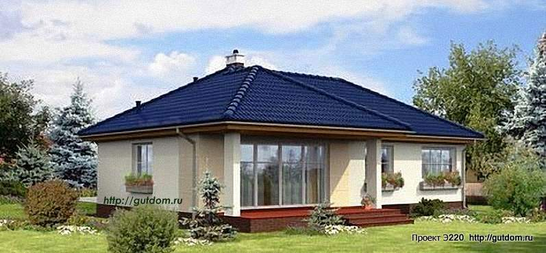 Проект Э220 одноэтажный дом - коттедж Общая площадь 83,5 м2
