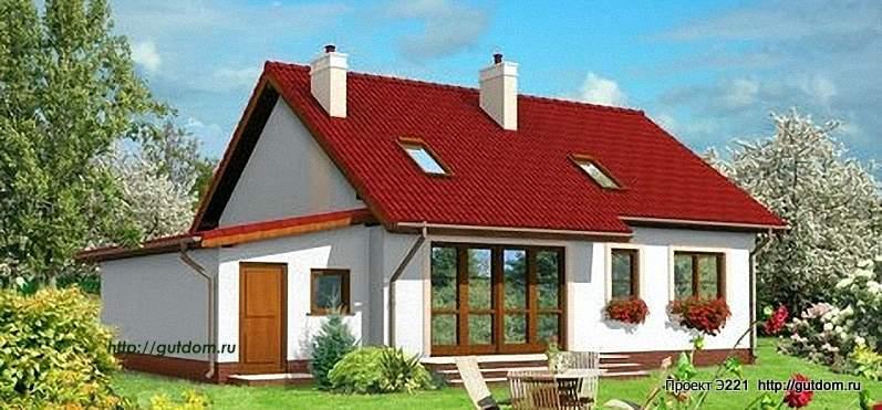 Проект Э221 одноэтажный дом - коттедж Общая площадь 99,4 м2