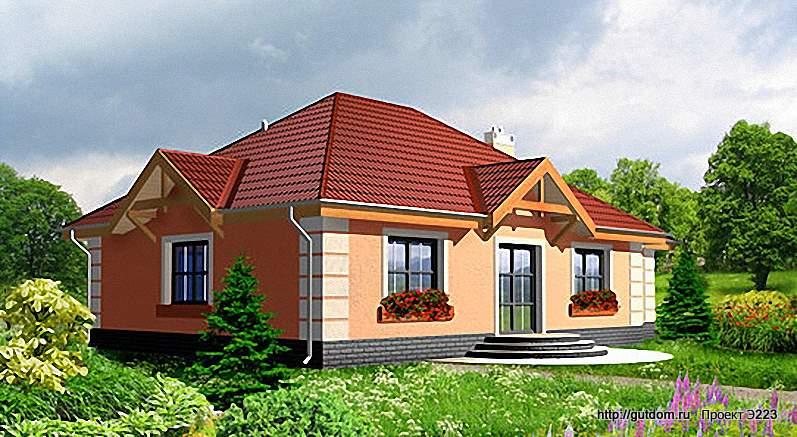 Проект Э223 одноэтажный дом - коттедж Общая площадь 113,5 м2