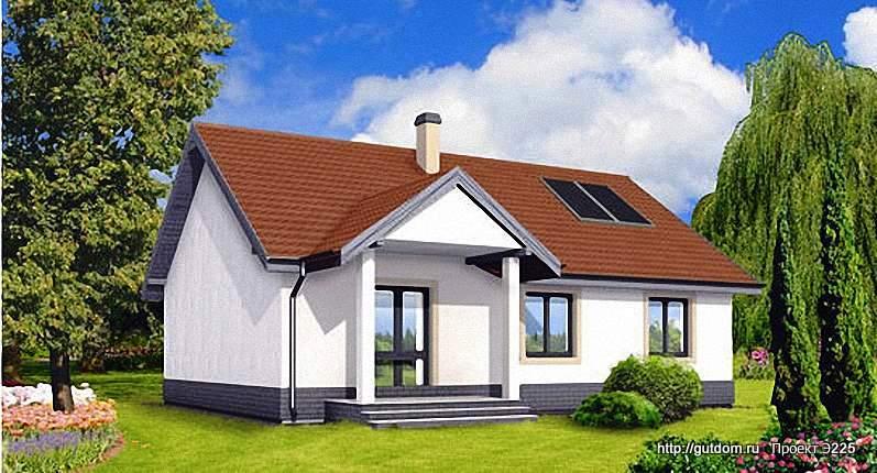 Проект Э225 одноэтажный дом - коттедж Общая площадь 93 м2