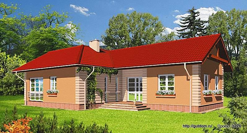Проект Э226 одноэтажный дом - коттедж Общая площадь 116,8 м2