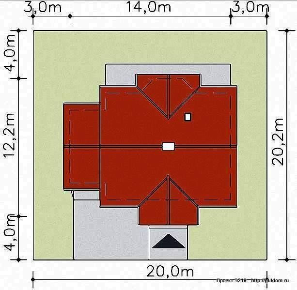 Проект Э219 одноэтажный дом - коттедж Общая площадь 101,4 м2
