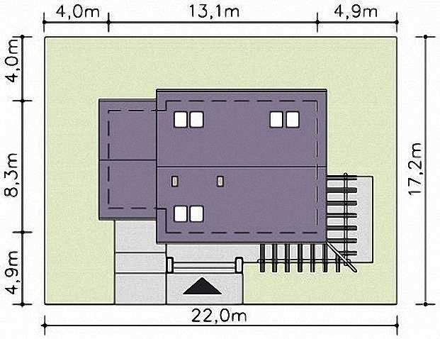 Проект Э267 дом с мансардой и гаражом Общая площадь 130,0 м2