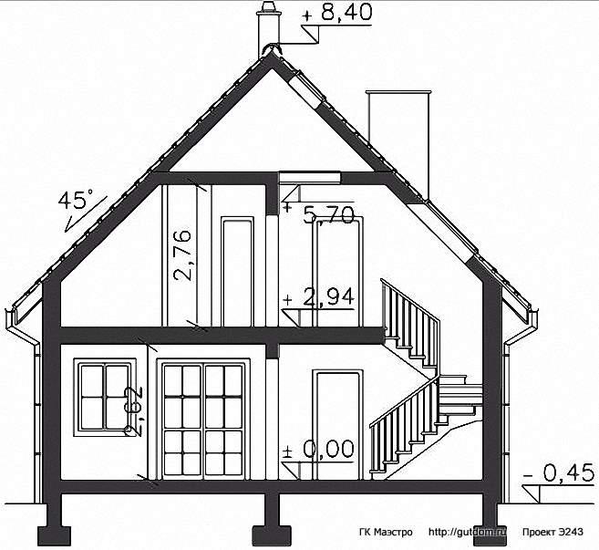 Проект Э243 дом - коттедж с мансардой Общая площадь 144,6 м2
