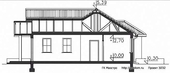 Проект Э232 одноэтажный дом - коттедж Общая площадь 125,7 м2