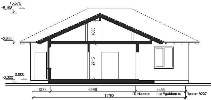 Проект Э237 одноэтажный дом - коттедж Общая площадь 158,0 м2