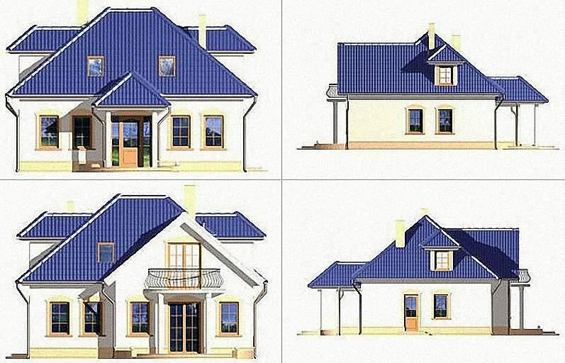 Проект Э269 дом с мансардой Общая площадь 111,9 м2
