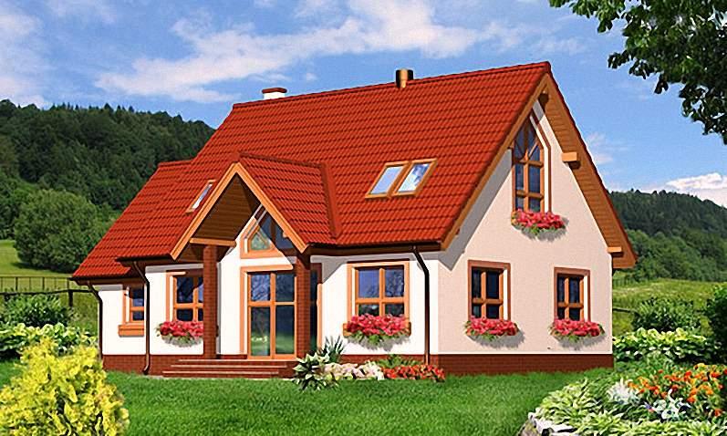 Проект Э276 дом с мансардой Общая площадь 147,9 м2