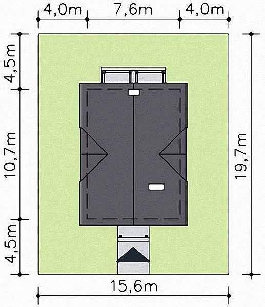 Проект Э279 дом с мансардой Общая площадь 111,7 м2